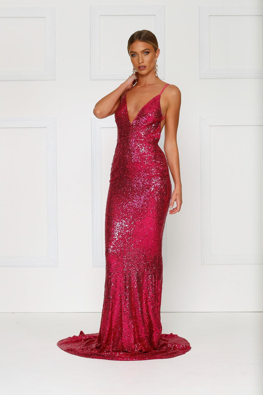 Yassmine Mermaid Gown - Hot Pink