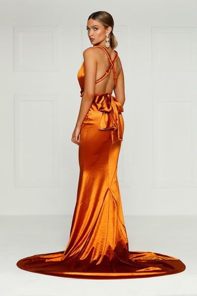 Lena Multiway Gown - Golden Rust Preorder