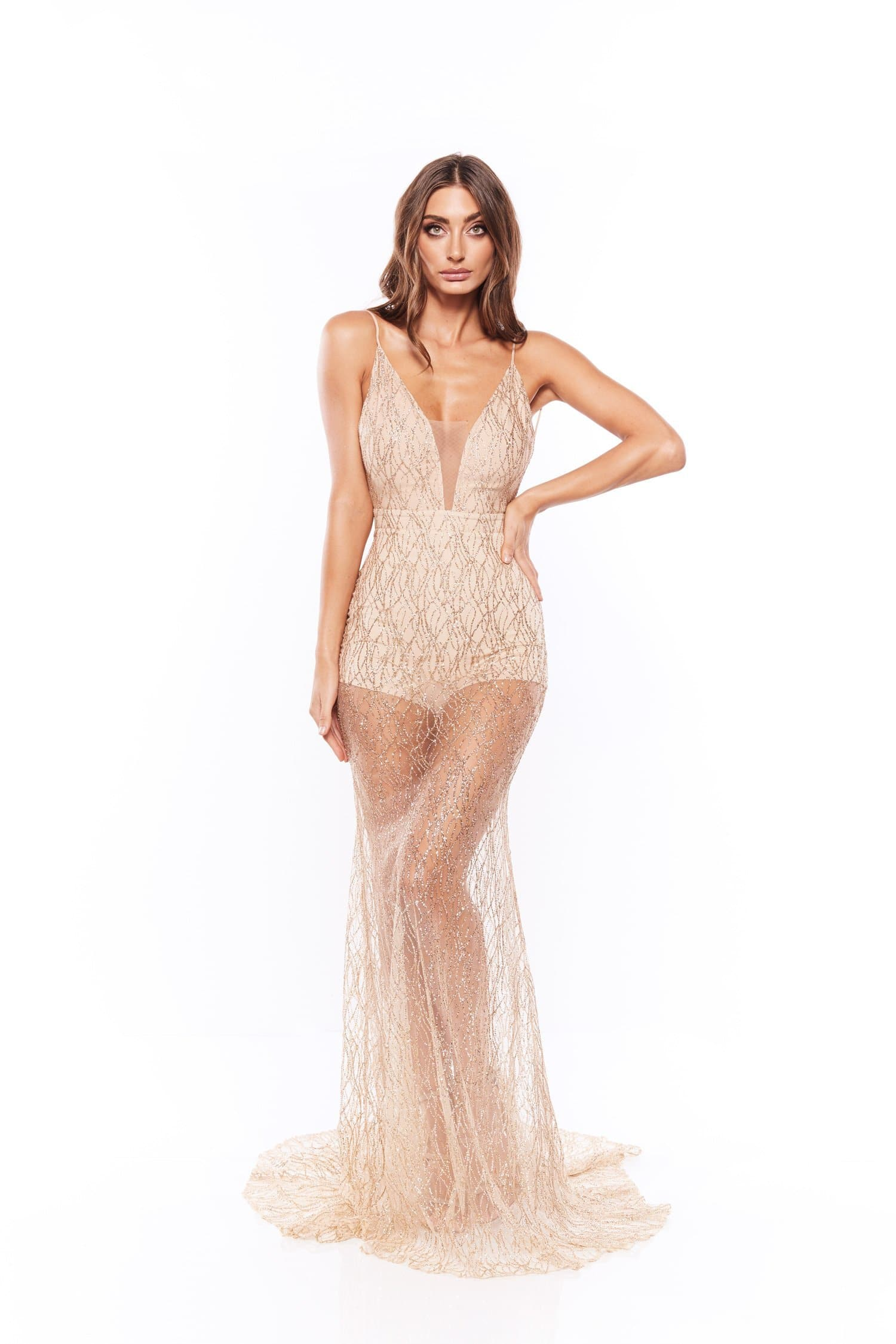 Joella Glitter Sequins Gown - Gold Pre-Order End of September