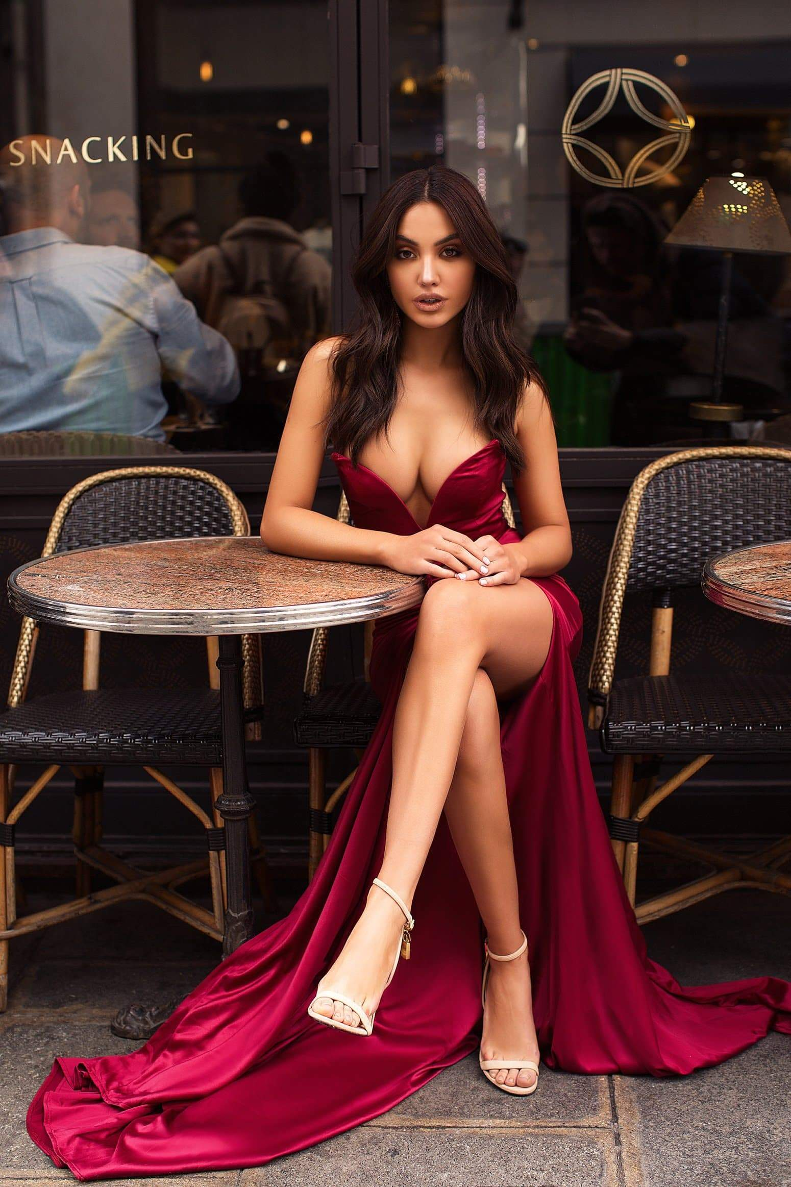 Mabelle Gown - Deep Red Pre-Order End of August
