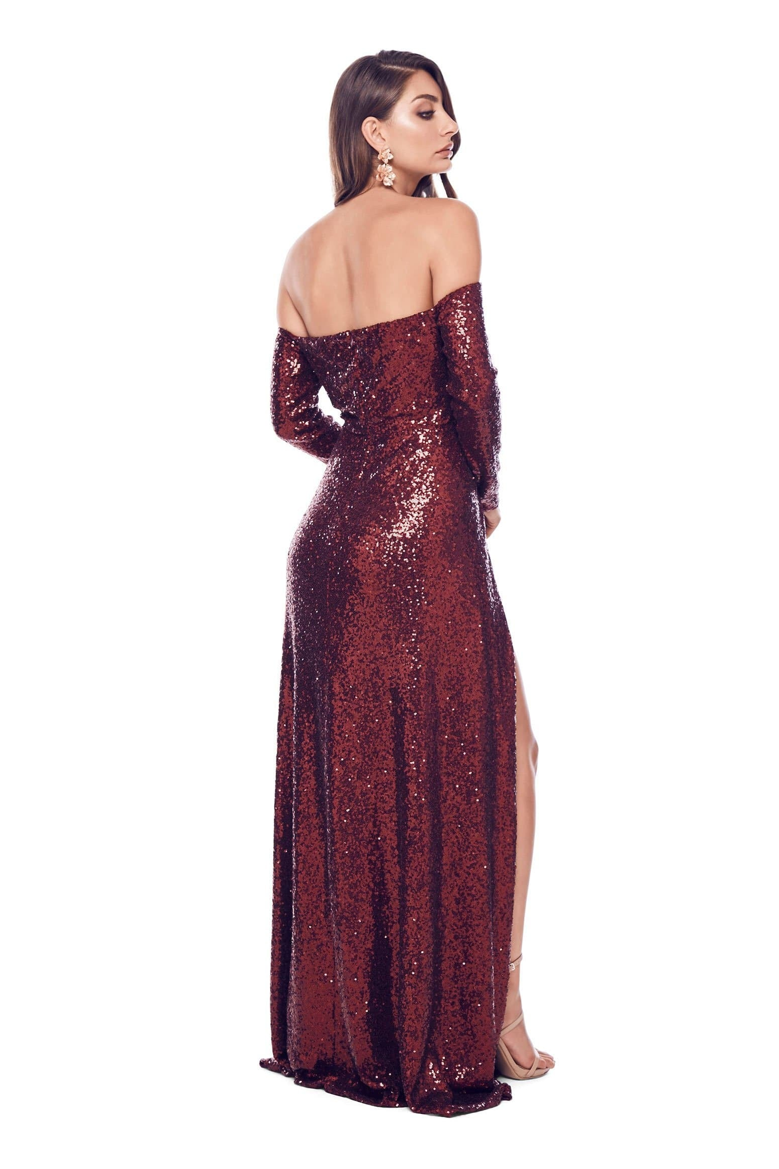 Yuliya Gown - Burgundy Preorder For Mid-May