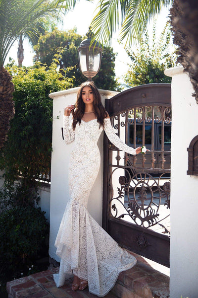 Margarita Lace Gown - Ivory Preorder End of March