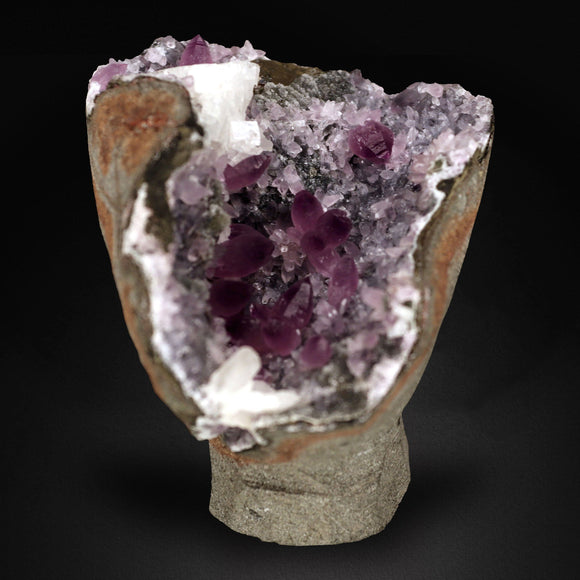 Amethyst on Chalcedony, Aurangabad, India # DEN 048 Amethyst Superb Minerals