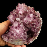 Amethyst Purple Crystal Natural Mineral Specimen # B 2103 Stunning Amethyst Crystal Clusters from India. Cut Base, Premium Quality Specimens. These beautiful purple Amethyst Clusters all come with a flat (cut) base so they stand upright easily.. In excellent condition. Primary Mineral(s): AmethystSecondary Mineral(s): N/AMatrix: Heulandite16 cm x 13 cm 1610 Gms