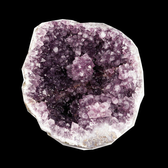 Amethyst purple Flower formation Natural Mineral Specimen # B 3668  https://www.superbminerals.us/products/amethyst-purple-flower-formation-natural-mineral-specimen-b-3668  Features A very large and striking Amethyst Geode. The geode is completely lined with deep-purple Amethyst crystals with outer banding which really sets this piece apart from typical geodes. In addition, the intense purple found in Amethyst is unlike anything else available, and this piece is no exception