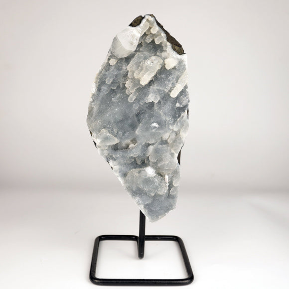 Apophyllite Crystal on Chalcedony Coral Formation W/Stand Natural Mineral # DRL-200 Mounted Superb Minerals