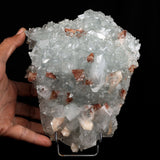 Apophyllite crystal with Stilbite & Heulandite Natural Mineral Specime…  https://www.superbminerals.us/products/apophyllite-crystal-with-stilbite-heulandite-natural-mineral-specimen-b-3721  Features:This large plate is covered with exceptional Stilbite and Apophyllite crystals. The contrast between the pearly Stilbite and the glassy, transparent Apophyllite crystals is eye-catching, and the entire piece sparkles. A great piece, no damage. Primary Mineral(s): Apophyllite Secondary Mineral(s): Stilbite