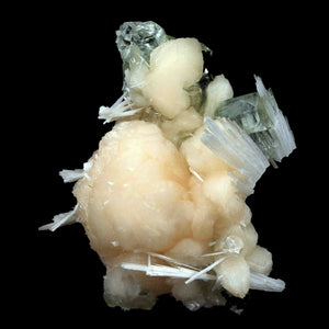 Apophyllite crystal with Stilbite & Scolecite Natural Mineral Specimen…  https://www.superbminerals.us/products/apophyllite-crystal-with-stilbite-scolecite-natural-mineral-specimen-b-3473  Features:A very aesthetic combination piece featuring numerous large, lustrous green crystals on a dark-brown matrix hosting numerous acicular sprays of colorless to white, satiny Scolecite along with a big crystal of orange-yellow Stilbite crystals. Primary Mineral(s): ApophylliteSecondary Mineral(s): Stilbite