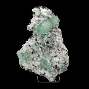 Apophyllite Green with Scolecite on Chalcedony Natural Mineral Specime…  https://www.superbminerals.us/products/apophyllite-green-with-scolecite-on-chalcedony-natural-mineral-specimen-b-3737  Features:It's a gorgeous extra-large cabinet-sized specimen featuring gemmy pale green apophyllite crystals with a scolecite spray on a white dense chalcedony matrix. Some apophyllite crystals are up to 5-6 cm in size. This is a great display piece with real visual impact. It has the shiny white color typical of most