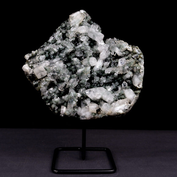Apophyllite with Chalcedony W/Stand Natural Mineral Specimen # B 3920  https://www.superbminerals.us/products/apophyllite-with-mm-quartz-w-stand-natural-mineral-specimen-b-3920  FeaturesA huge grid of
