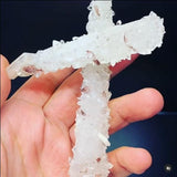 Calcite Cross a Masterpiece of Ancient Natural Art Calcite Superb Minerals