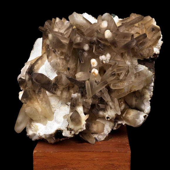 Calcite Crystals Spray with Mordenite Balls, Aurangabad, India # M52 Calcite Superb Minerals