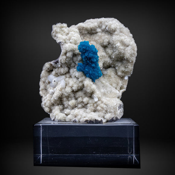 Cavansite with Stilbite on Heulandite - #A12 cavansite Superb Minerals