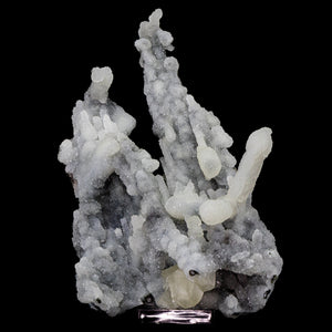 Chalcedony Stalactite with Coated Calcite and Yellow Calcite - #C27 Calcite Superb Minerals