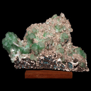 Green Apophyllite Crystals on Heulandite, Pune, India # M66 Apophyllite Superb Minerals