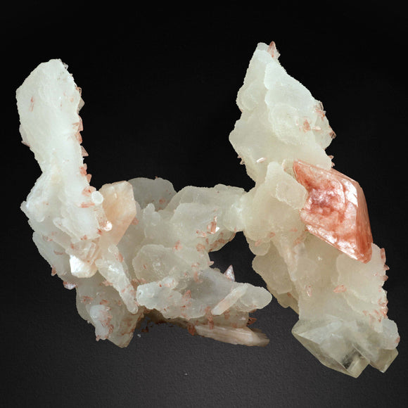 Heulandite with Calcite & Stilbite # 20T10 Heulandite Superb Minerals