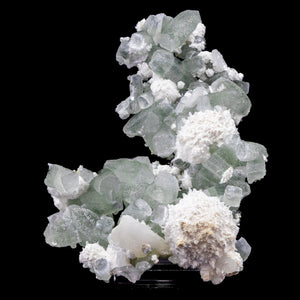 Mordenite and Green Apophyllite with Stilbite - #D9 Apophyllite & Mordenite Superb Minerals