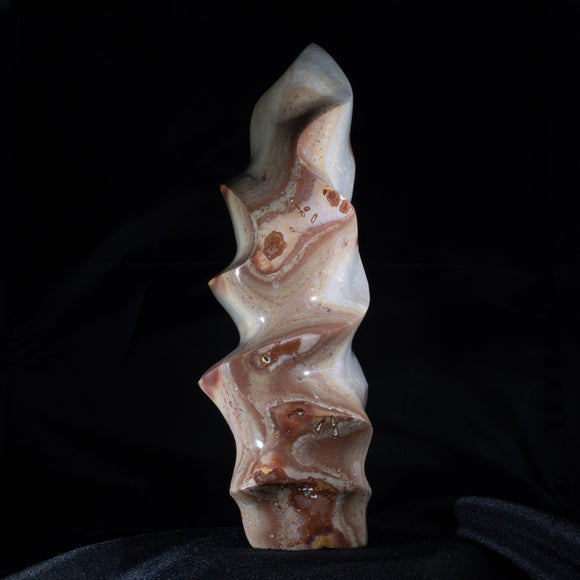Polychrome Agate Free Form  For those who require funky undulation. . . .a tall, free standing Ocean Jasper sculpture that casts a dramatic shadow.  A dramatic piece of the outdoors to bring inspiration indoors!  3.5
