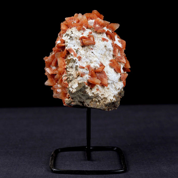 Red Heulandite Crystals On Mordenite Mounted On Stand Natural Mineral …  https://www.superbminerals.us/products/red-heulandite-crystals-on-mordenite-mounted-on-stand-natural-mineral-specimen-b-3857  FeaturesA round piece of pointed Heulandite crystals which are scattered on all over the specimen white Mordenite base. Its particularly like the unique, presentation of the piece, and the colors, contrast and crystallization are stunning. An amazing, all natural and eye-catching piece of mineral decor!