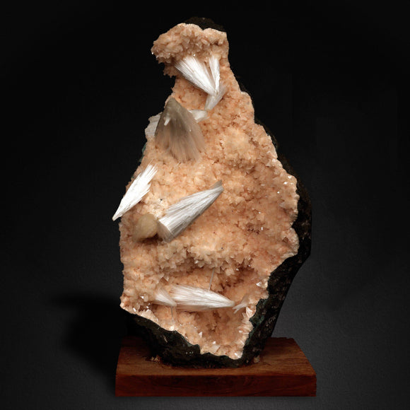 Scolecite Spray Formation On Heulandite Base, Aurangabad, India # M83 Scolecite Superb Minerals