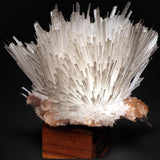 "Scolecite forms in clusters of sharp, prismatic, ""needle-like"" points, which often radiate outward from a source, or, alternatively, criss-cross with each other to form sculptures that are truly a natural art form. Scolecite is mainly found in India, although there are also deposits of white scolecite in Iceland."