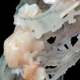 Stilbite Bowties with Heulandite on Chalcedony Matrix # E9 Stilbite Superb Minerals