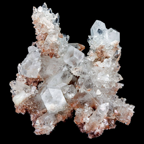 Thick Clear Apophyllites on Pink Chalcedony - #D24 Apophyllite Superb Minerals
