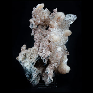 Very Gemmy Apophyllite Crystals with Stilbite on Chalcedony - #B49 Apophyllite Superb Minerals