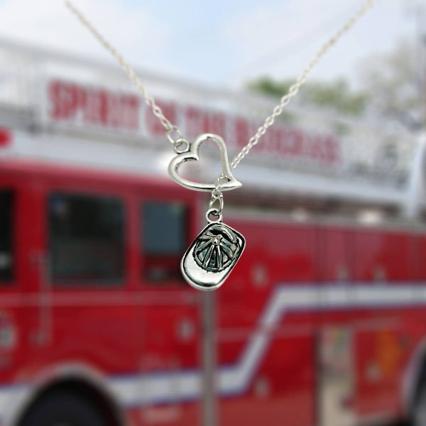 firefighter dp ffcr jewelry amazon plated com necklace girlfriend