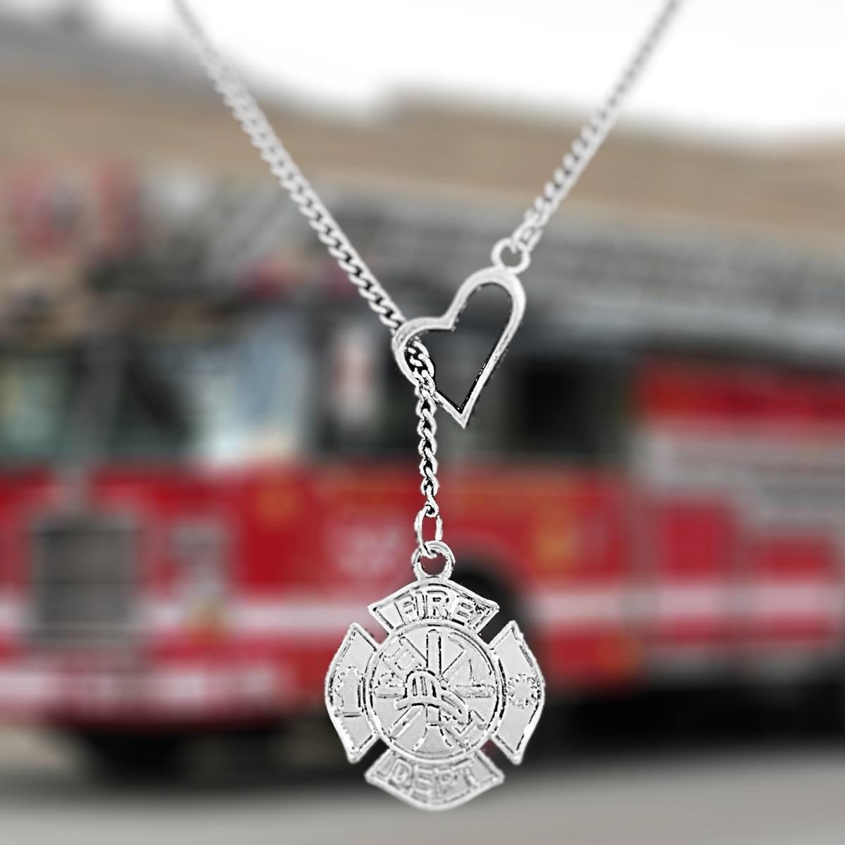 pin support firefighter fighter fire pendant maltese firefighters cross necklaces i split