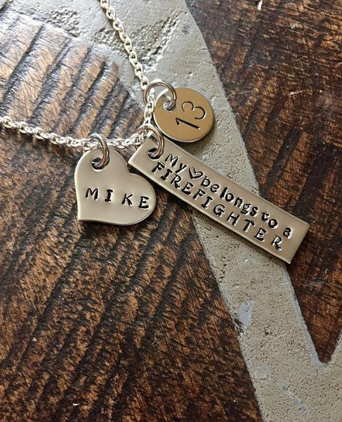 pin firefighters firefighter pinterest jewlery girlfriend necklace