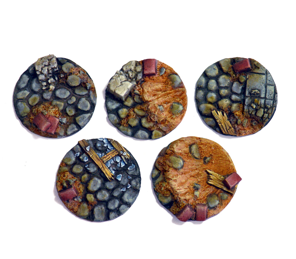 Small Blasted Cobblestone Inserts x 5
