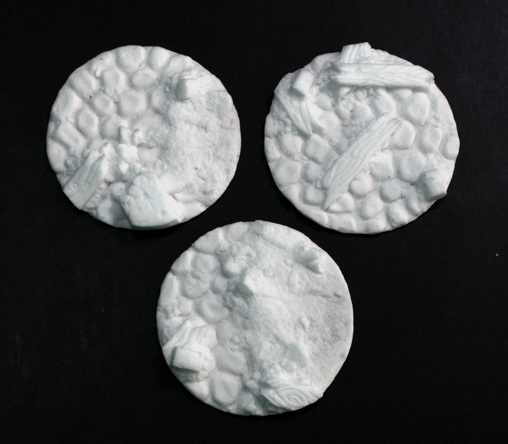 Medium Blasted Cobblestone Inserts x 3