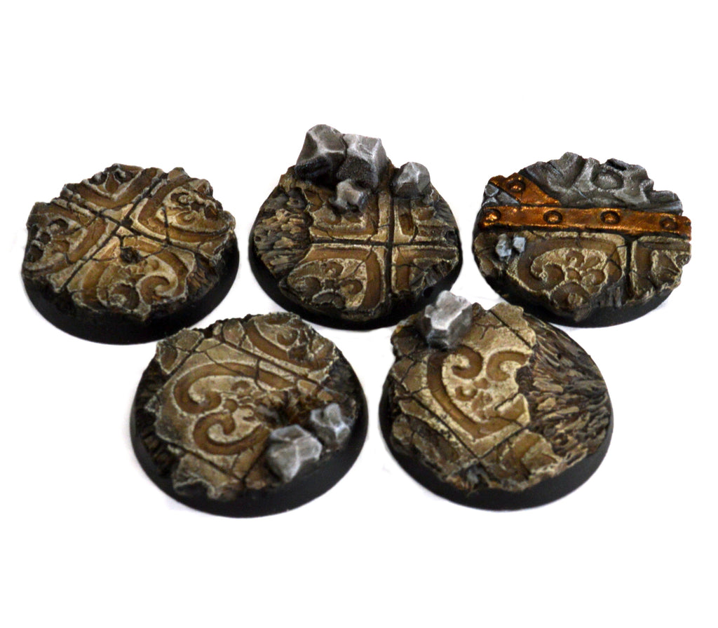 25mm Imperial Ruins Base x5