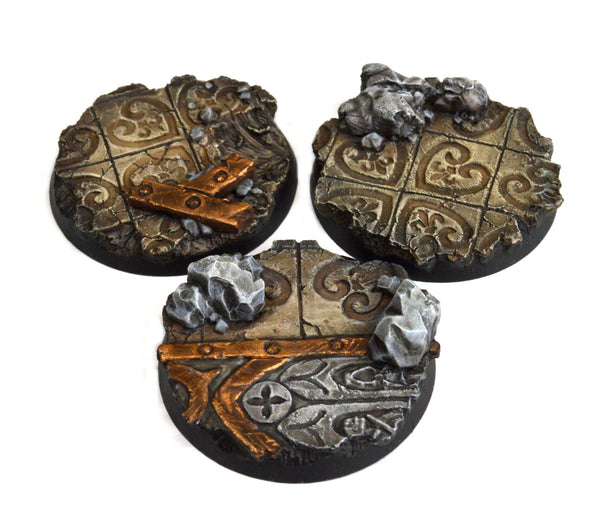 40mm Imperial Ruin Base x3