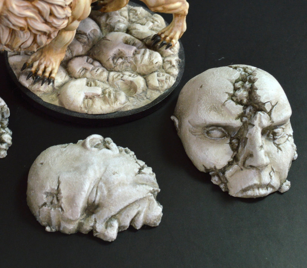 Large Broken Statuary Base Accessories x 3