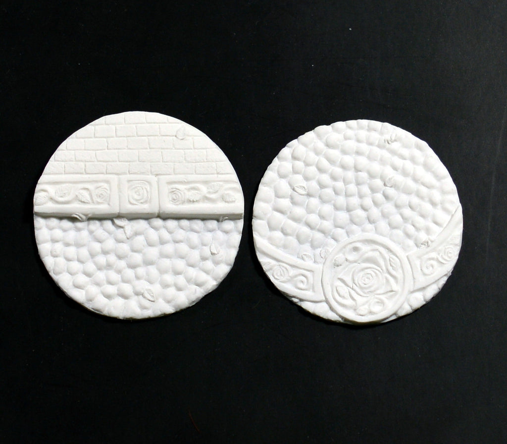 Large Ornate Cobblestone Inserts x 2