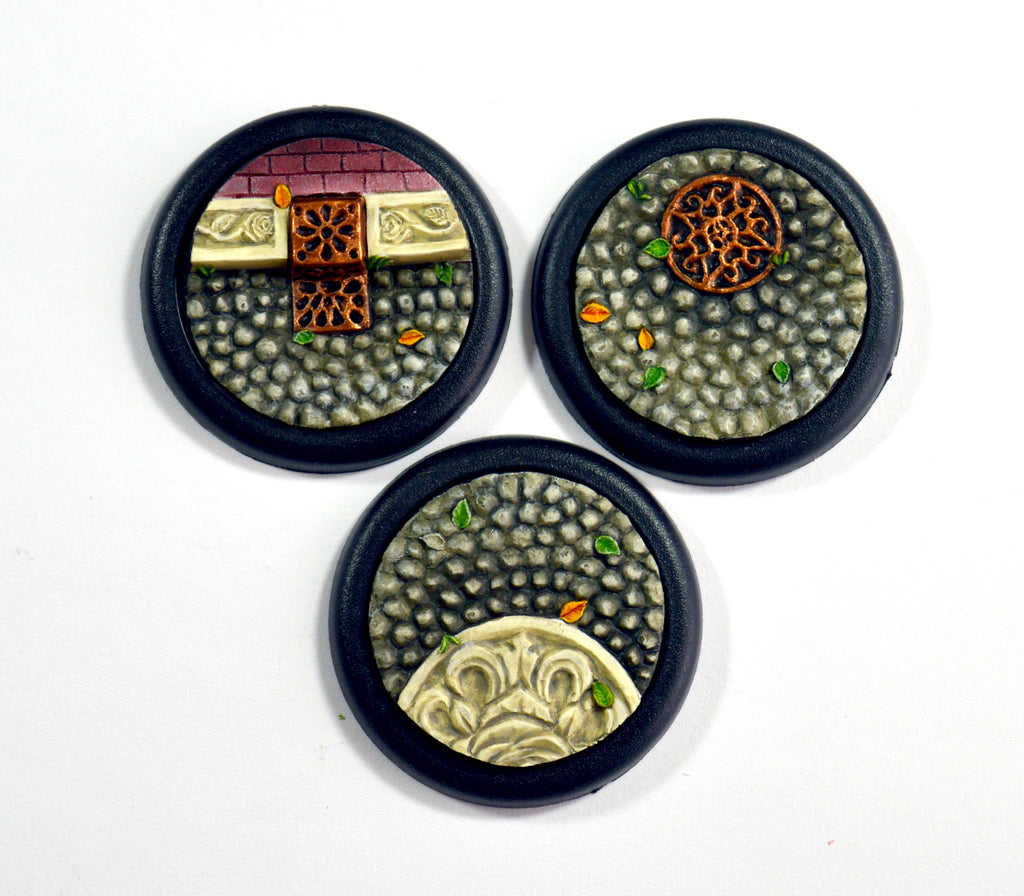 Medium Ornate Cobblestone Inserts x 3