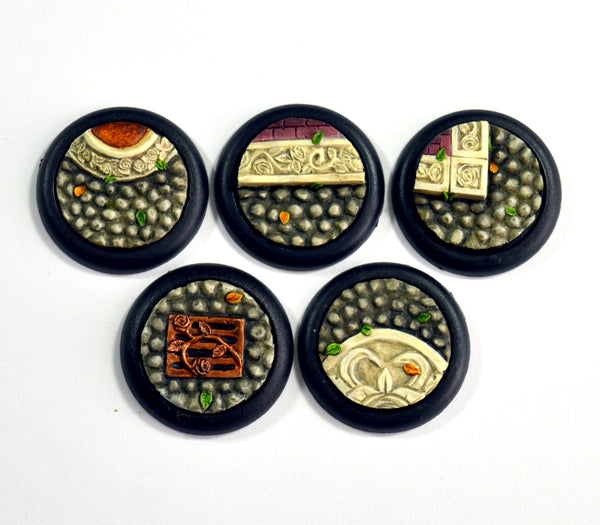 Small Ornate Cobblestone Inserts x 5
