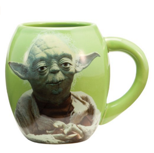 Star Wars Yoda 18 oz Oval Ceramic Mug, Green
