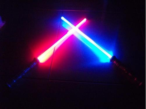 2 FX-Led-Lightsaber-Saber-Light-Sword- CHANGES COLOR WHEN STRUCK