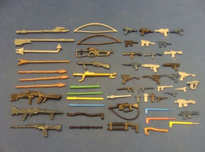 Vintage 57 Star Wars Weapons Figures Lot