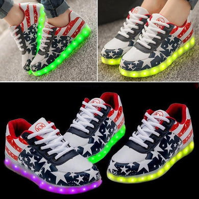 1Stars-LED-Women-Men-Light-Lace-Up-Sportswear-Sneaker-Luminous-Shoes