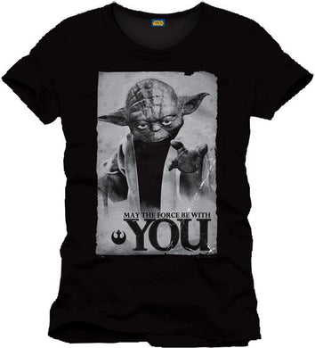 Star Wars T-SHIRT Yoda May The Force Be With You