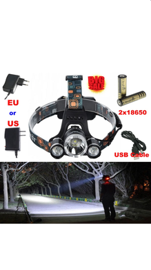 Handy motile waterproof headlamp