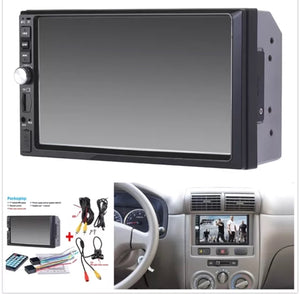 2 Din Car Video Player 7 inch Touch Screen Car Radio Audio Stereo MP5 Player 2Din USB FM Bluetooth + Rear View Camera
