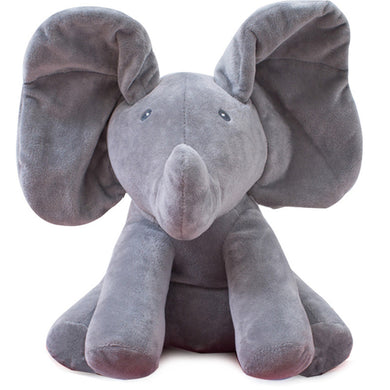 Peek a boo elephant toy sings songs to baby