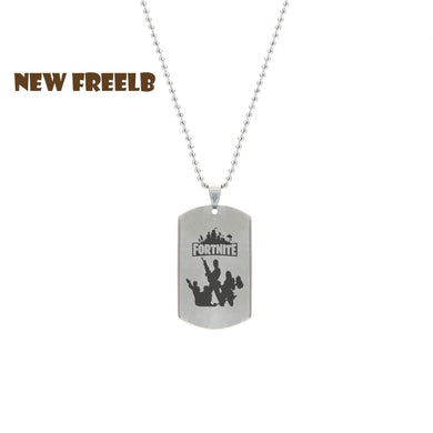 Hot&Classic FPS Game Fortnite Logo Necklace Stainless Steel Pendant Laser Printing Personalized Jewelry Do not fade 3 Style