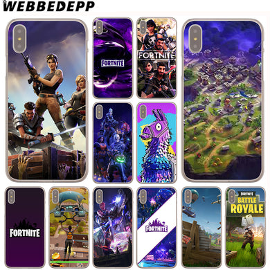 WEBBEDEPP Fortnite Cool Case for iPhone X or 10 8 7 6 6S Plus 5 5S SE 5C 4 4S