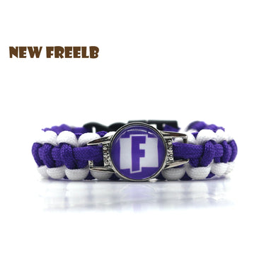 Hot&Classic FPS Game Fortnite Battle Royale Bracelets Blue White Fashion Handmade Personalized Jewelry for Women and Men fans